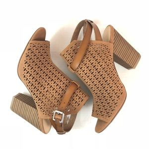 New Joe's Jeans Perforated Camel Sandals 10